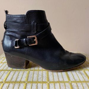 Coach Pauline Strapped Ankle Boots Slate Black